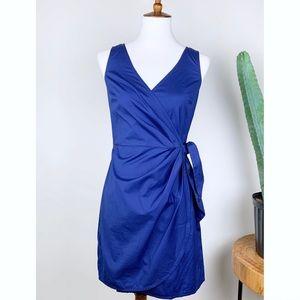 LOFT   Blue Faux Wrap Dress